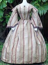 CIVIL WAR ERA DAY DRESS c.1860 VICTORIAN ANTIQUE