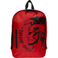 DIESEL Backpack, Red, with Laptop Sleeve, 40 x 27 x 12 cm