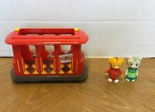Daniel Tiger's Neighborhood Trolley Pull Back and Go Bell Sound with Figures