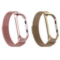 Magnetic Loop Stainless Steel Bracelet Watch Band Strap For Xiao Mi Bands Wirst