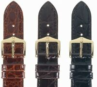 Uhrenarmband HIRSCH Genuine Croco - Kroko Glänzend - Lederband, Uhrenband