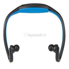 New Mini Wireless Sports Bluetooth Headphones MP3 Player for iphone Laptop Blue
