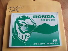 1999 Honda XR200R Owner's Owners Manual