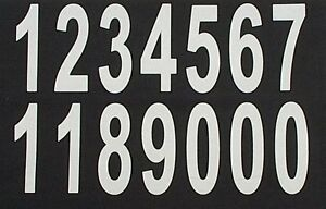 iron on numbers LARGE 90mm white- numbers set iron on transfers