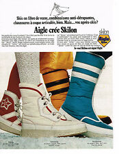 PUBLICITE ADVERTISING  1973   AIGLE  chaussures de ski aprés-skis