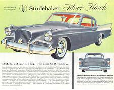 Studebaker  CANADIAN  Single Sheet  Silver Hawk 1958
