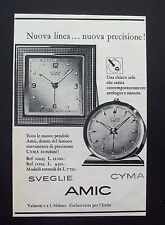 F485 - Advertising Pubblicità - 1953 - SVEGLIE AMIC CON MOVIMENTO CYMA