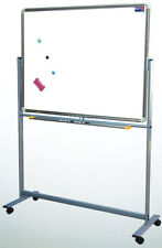 "Reversible Roll Around Standing Magnetic Dry Erase Board W Pens Eraser 36"" x 48"""