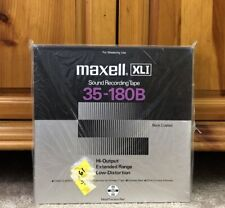 "New Maxell XLI 35-180B Reel to Reel Blank Tape 10/10.5"" inch Metal Reel"