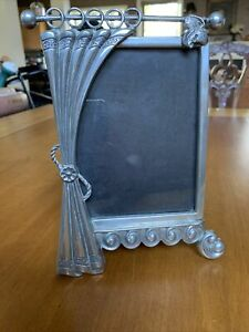 "Vintage Metal Ornate Silver Tone Victorian Frame 5.5""x4"" Picture Unique Design"