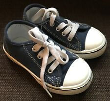 SPIRIT Low Top Navy Blue Toddler Trainers Like Converse Infant size UK 7
