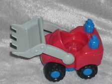Fisher Price Little People Construction Truck Red & Grey Loader Bull Dozer
