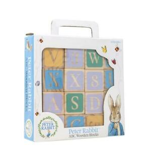 PETER RABBIT WOODEN PICTURE BLOCKS - NEW AND BOXED