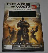 GEARS OF WAR 3 Countdown Display Case XBOX 360 (Sept. 20, 2011) FAST SHIPPING!