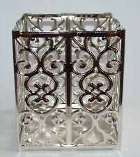 BATH & BODY WORKS HEART SCROLL SQUARE LARGE 3 WICK CANDLE HOLDER SLEEVE 14.5 OZ