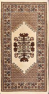 Handmade Geometric Tribal 3x5 Moroccan Oriental Area Rug 4' 9'' x 2' 5''