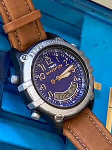 Mens Timex Indiglo Expedition WR100M Alarm Ana-Digi Men's Watch~Excellent ~