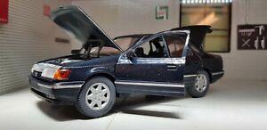 1:24 Model Ford Granada Scorpio Ghia saloon Blue Schabak Diecast 1:25 Rare!