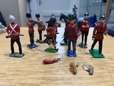 Vintage Metal Toy Soldiers Guards & Guards Band Cherilea? Britains? Crescent?
