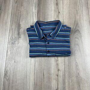 Patagonia Worn Wear Men's Multi Stripe Short Sleeve Collared Polo Size Large L