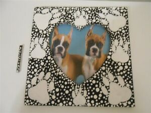 Wooden Dog Handmade Picture Frames With Heart Window