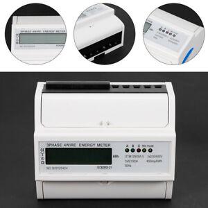 Drehstromzähler Stromzähler Wechselstromzähler für DIN Hutschiene IEC 62053-21