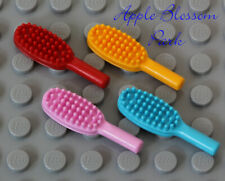 LEGO Minifig Lot/4 HAIR BRUSHES -Belville Friends Red Orange Pink Blue Hairbrush