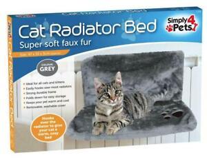 CAT KITTEN HANGING RADIATOR PET BED WARM FLEECE BASKET CRADLE HAMMOCK PLUSH FAUX