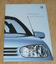 Volkswagen VW Golf Mk4 Cabriolet Brochure 2000 SE 2.0 Avantgarde Colour Concept