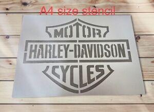 Harley Davidson Stencil, Motorcycle Stencil,mancave Sign,wall Furniture Decor