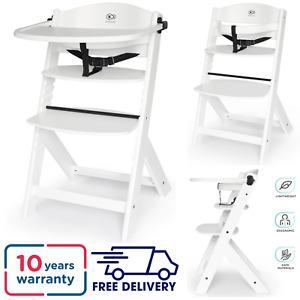 Kinderkraft High Chair ENOCK 3-in-1  Beech Highchair WHITE / 6 months - 10 Years