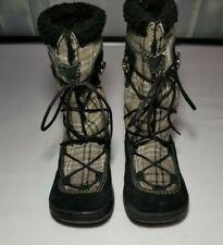 Rocket Dog Women's Black Plaid & Suede Size 6 1/2 Faux Fur Lace Up Calf Boots