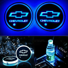 For CHEVROLET CHEVY LED Car Cup Holder Mat Coaster Pad Atmosphere Light Colorful