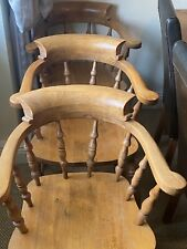 More details for antique. captains / smokers chairs