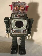 1950s Alps Television Robot Works Great TV Robot Tin Japan