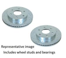 04-08 F150 2WD Front SSBC Big Bite Cross Drilled & Slotted  Rotor Kit