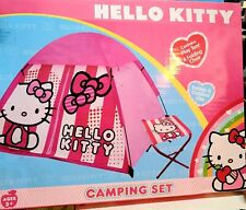 Hello Kitty Dome Camping Tent Folding Chair Indoor & Outdoor Play Set 3+