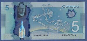 Canada $5 (2013) - UNC POLYMER NOTE ** HBK6277844 **  YSL14