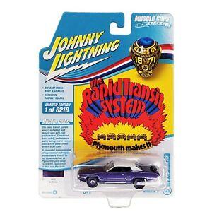 JOHNNY LIGHTNING 1971 Plymouth GTX Purple Muscle Cars USA Class of JLMC026 2021