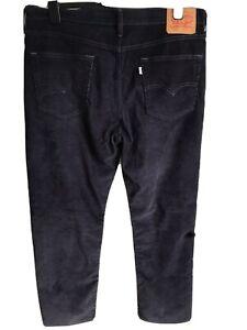 Men's Levi's 514 Dark Blue Chords Size W 36 / L 30 Straight Leg