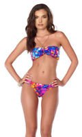 Blvd Collection by Forplay Women's Turtle Shell Print Triangle Bikini Bottoms, L