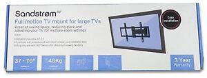 """Sandstrom SFML 16 Full Motion TV Bracket for Large TVs - 600 x 400 for 37"""" to 70"""