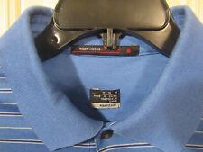 Nike Golf Tiger Woods polo style Dri-fit size medium blue stripe golf shirt EUC