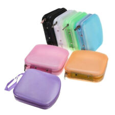 KF_ Portable 38 Disc CD DVD Storage Zipper Bag Case Hard Box Wallet Album Hold