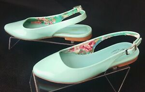 """Cupcake Couture """"Ana"""" Girl's Minty Blue Sling Back Ballet Flats Shoes Size 13M N"""