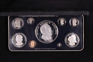 Panama 1975 9-Coin Proof Set - Franklin Mint