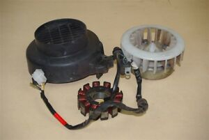 Used Stator, Fly Wheel and Fan Cover For a SYM Jet100 Scooter