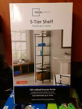 Mainstays 5-Tier Shelf Oil-rubbed bronze finish