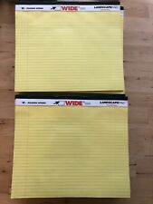 Lot of 21 Roaring Spring WIDE Landscape 40 Sheet Writing Pad College Ruled 74501