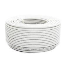 25m Mini Koaxial Sat Kabel 4mm dünn Weiß Koax Antennenkabel 2-fach geschirmt HD